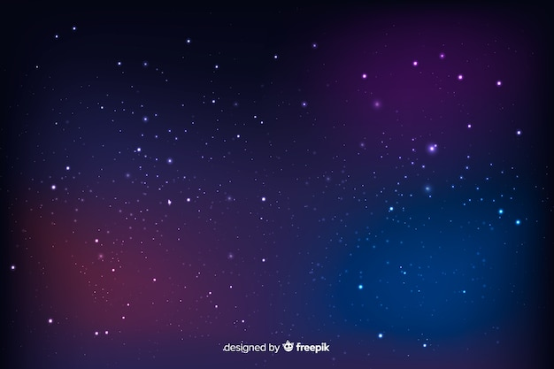 Beautiful cosmic landscape with blurred stars background Free Vector