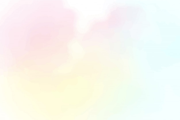 Beautiful cotton candy sky watercolor background