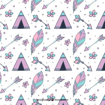 Beautiful creative boho pattern