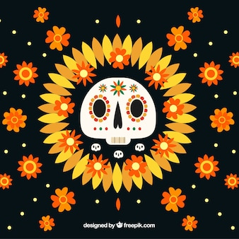 Beautiful and creative día de muertos background