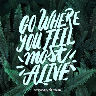 Beautiful creative motivational lettering background