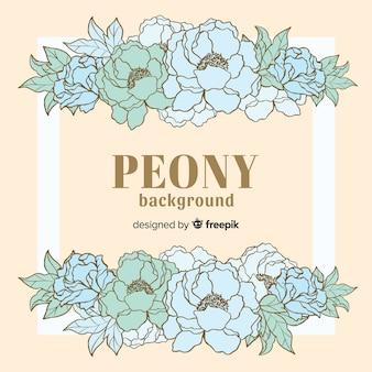Beautiful and creative peony flower background