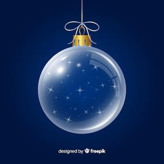 Beautiful crystal christmas ball