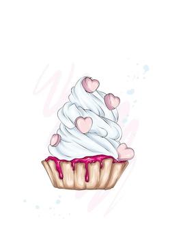 心の美しいカップケーキ