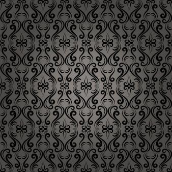 Webページの壁紙の美しいダマスクバロックシームレスパターン背景