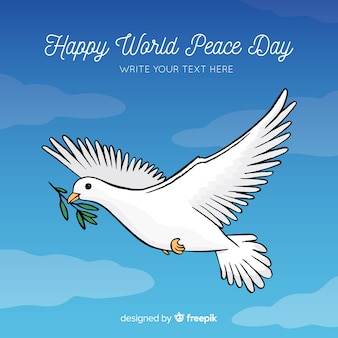 Beautiful day of peace background