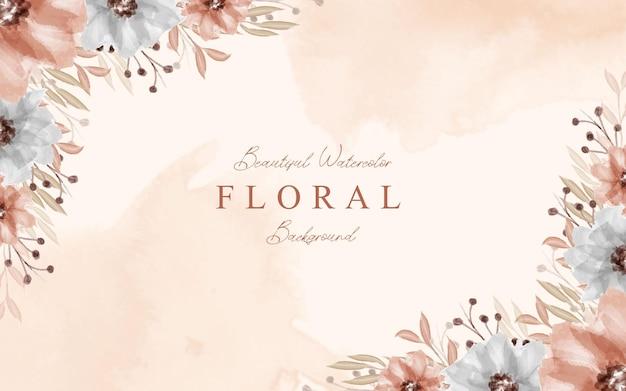 Красивый декоративный букет цветочный акварельный фон