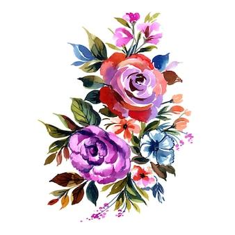 美しい装飾的なカラフルな花の束の背景