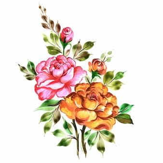 Красивые декоративные красочные цветы букет фон