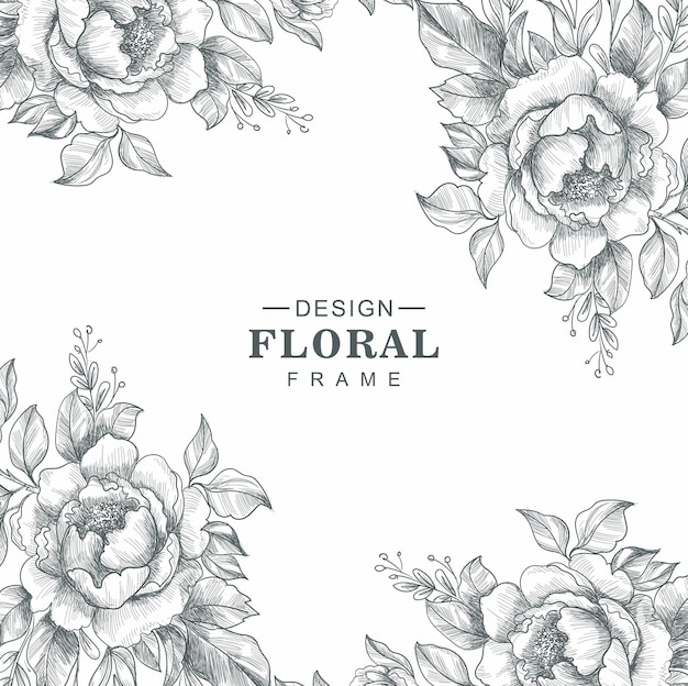 Beautiful decorative floral sketch background
