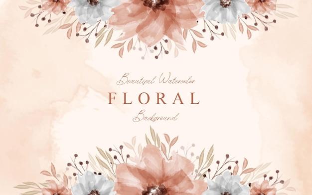 Красивый декоративный цветочный акварельный фон