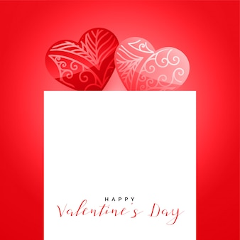 Beautiful decorative hearts valentines day background