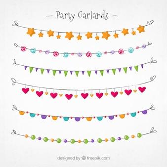 Beautiful decorative party garlands