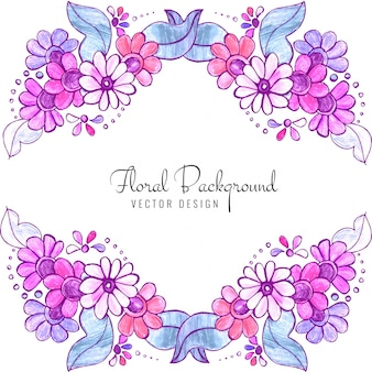 Beautiful decorative wedding colorful floral background