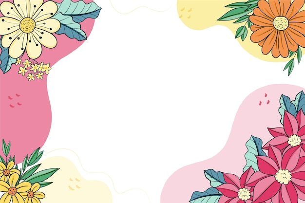 Beautiful and delicate floral frame background