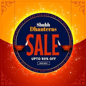 Beautiful dhanteras festival sale banner decorative