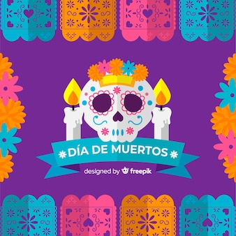 Beautiful día de muertos background