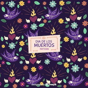 Beautiful dia de muertos pattern