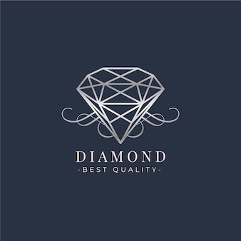 Красивый алмазный шаблон логотипа
