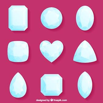 Красивый набор алмазов