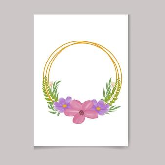 Красивая цифровая ручная роспись женственная акварель премиум цветочный дизайн рамы