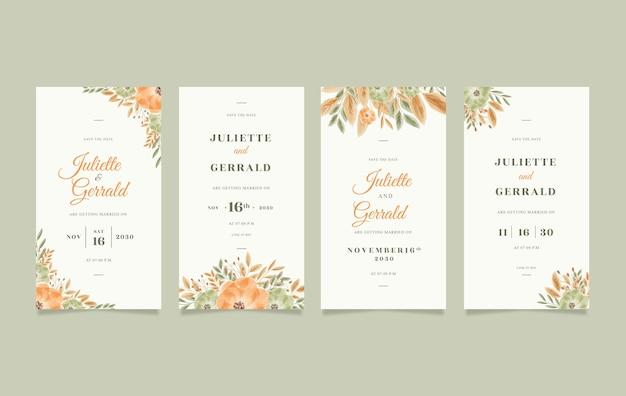 携帯電話用の美しいデジタル結婚式の招待状