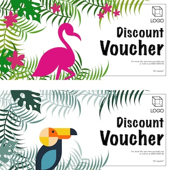 Beautiful discount vouchers set.
