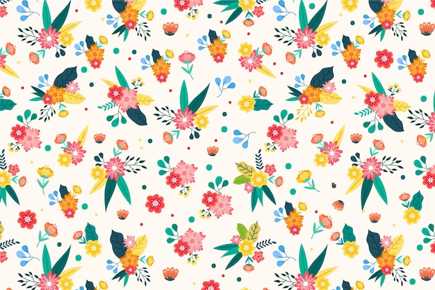Beautiful ditsy floral background