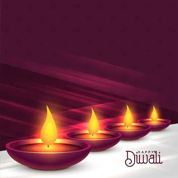 Bello disegno del fondo di festival di diwali diya