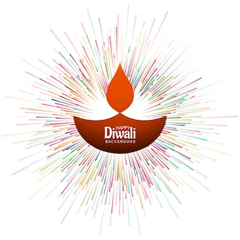 Beautiful diwali festival greeting card