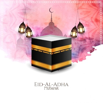 Beautiful eid al adha mubarak celebration background