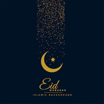 Beautiful eid festival greeting design
