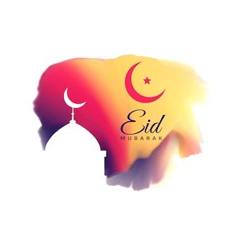 Beautiful eid mubarak festival greeting