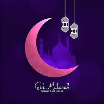 Beautiful eid mubarak festival greeting