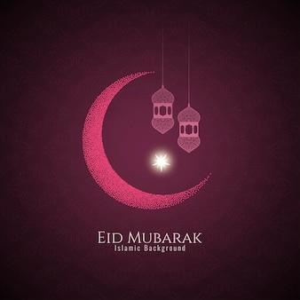 Beautiful eid mubarak festival pink background