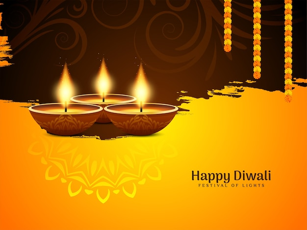 Beautiful elegant happy diwali festival background