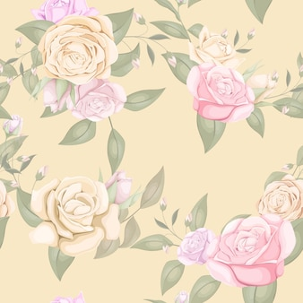 Beautiful and elegant seamless pattern floral