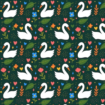 Beautiful elegant swan pattern