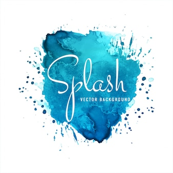 Beautiful elegant watercolor splash background