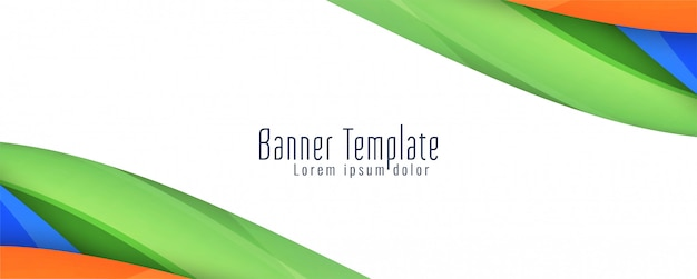 Beautiful elegant wavy banner template