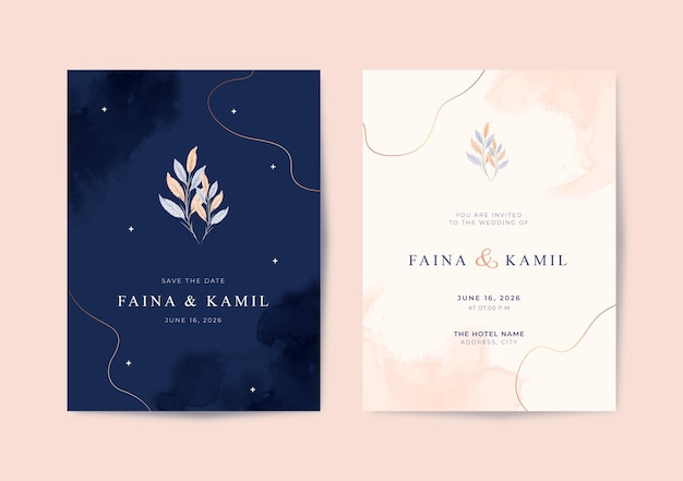 Beautiful and elegant wedding card template