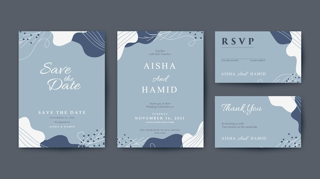 Beautiful and elegant wedding invitation template