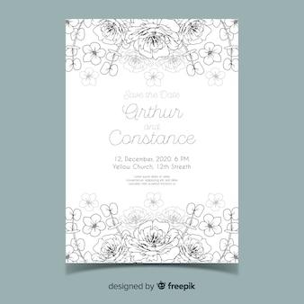 Beautiful and elegant wedding invitation template