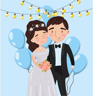 Beautiful elegant wedding love couple photo, best moments on pictures, portrait of family members  illustration