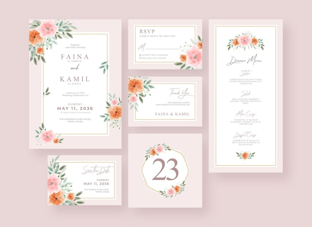 Beautiful and elegant wedding stationery collection