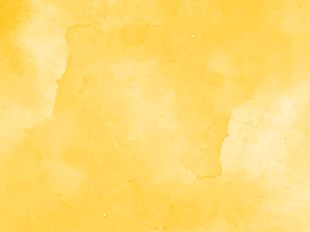 Beautiful elegant yellow watercolor background