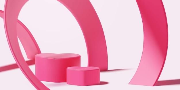 아름 다운 빈 핑크 현실적인 연단 장면