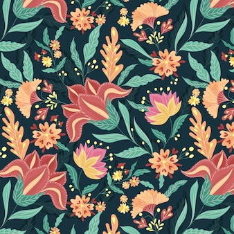 Beautiful ethnic florals pattern