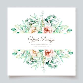 Beautiful eucalyptus wedding invitation card set