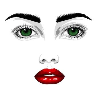 Красивое лицо женщины